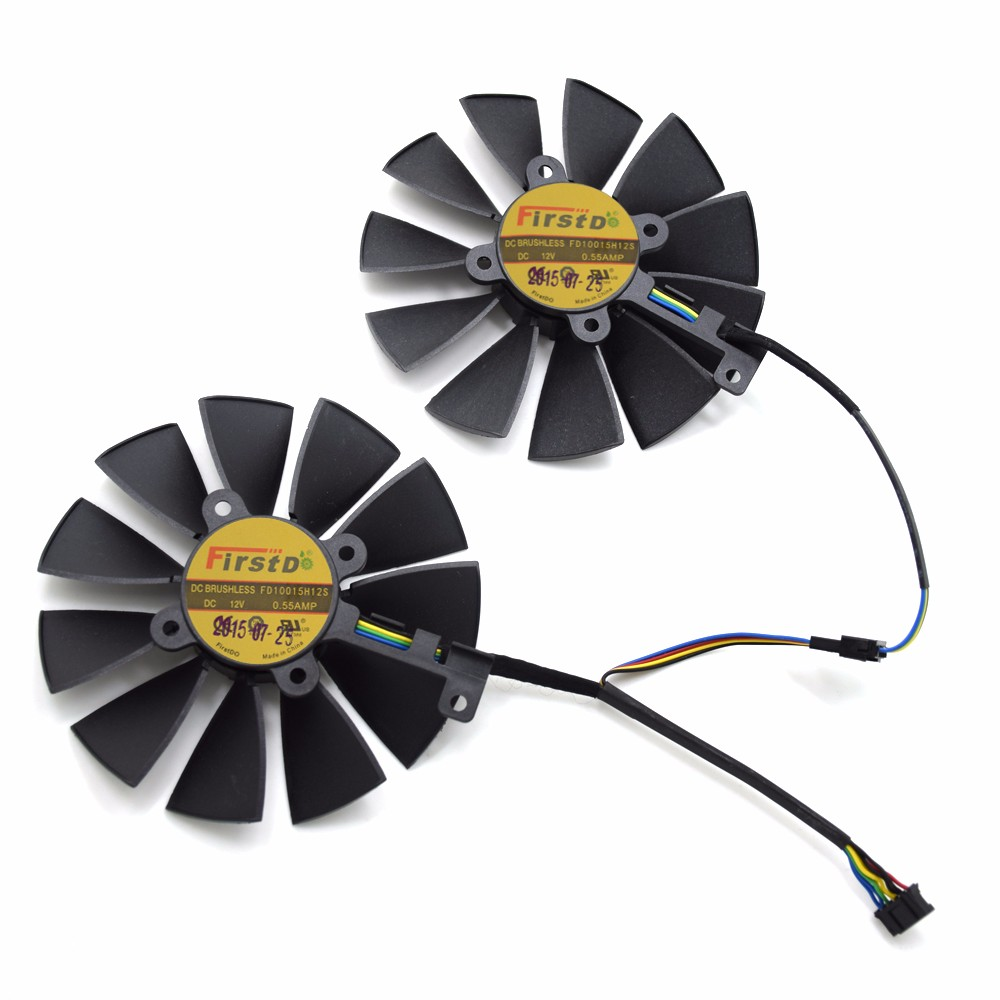 New 95MM Firstdo FD10015H12S 0.55A 4PIN 5Pin Cooler Fan For ASUS GTX 970 980 TI R9 380 Strix Graphics Video Card Cooler Fan<br>
