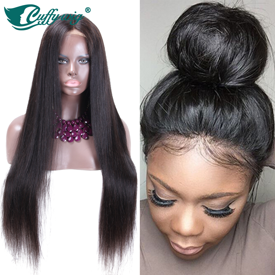 8A Brazilian Full Lace Human Hair Wigs for Black Women Straight Lace Front Human Hair Wigs With Baby Hair Glueless Full Lace Wig<br><br>Aliexpress