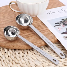 Measuring-Spoon Coffee-Scoop Tablespoon Long-Handle Stainless-Steel Multifunction Metal