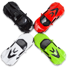 1:36 Simulation 4 Color Alloy Cars Metal Diecast Sports Car Die Cast Model High Quality Collection Pull Back Kid Toy Music Light(China)