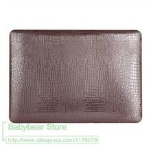 For Macbook Air 13'' Crocodile PU Leather case cover Fashion Laptop bag for Macbook Air 13 A1466(China)