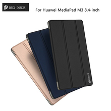 DUX DUCIS for Huawei Media Pad M3 Case Skin Pro Series Tri-fold Stand Leather Case for Huawei MediaPad M3 Cover Bag 8.4-inch