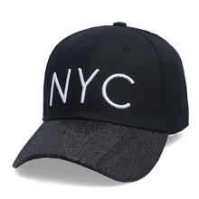 New cotton Letter NYC Baseball Cap Snapback hat for Men casquette women Leisure Outdoor Sport Hat wholesale fashion Accessories(China)