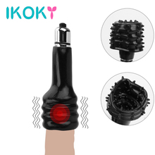 Buy IKOKY Penis Vibrator Cock Ring Glans Massager Delay Lasting Trainer Male Masturbator Delay Ejaculation Sex Toys Men