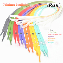 Tie Dye Print Rainbow Shoelaces~Flat Tubular Gradient Print Laces with zip-lock polybag~7 colors available~DHL FREE SHIPPING