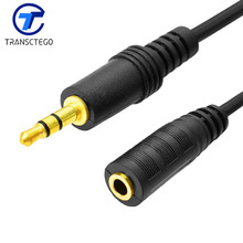 Headset AUX Audio Cable Computer Audio 3.5mm Jack Lengthen Line Speaker Earphones Extension Cable Male to Female Cord For PC
