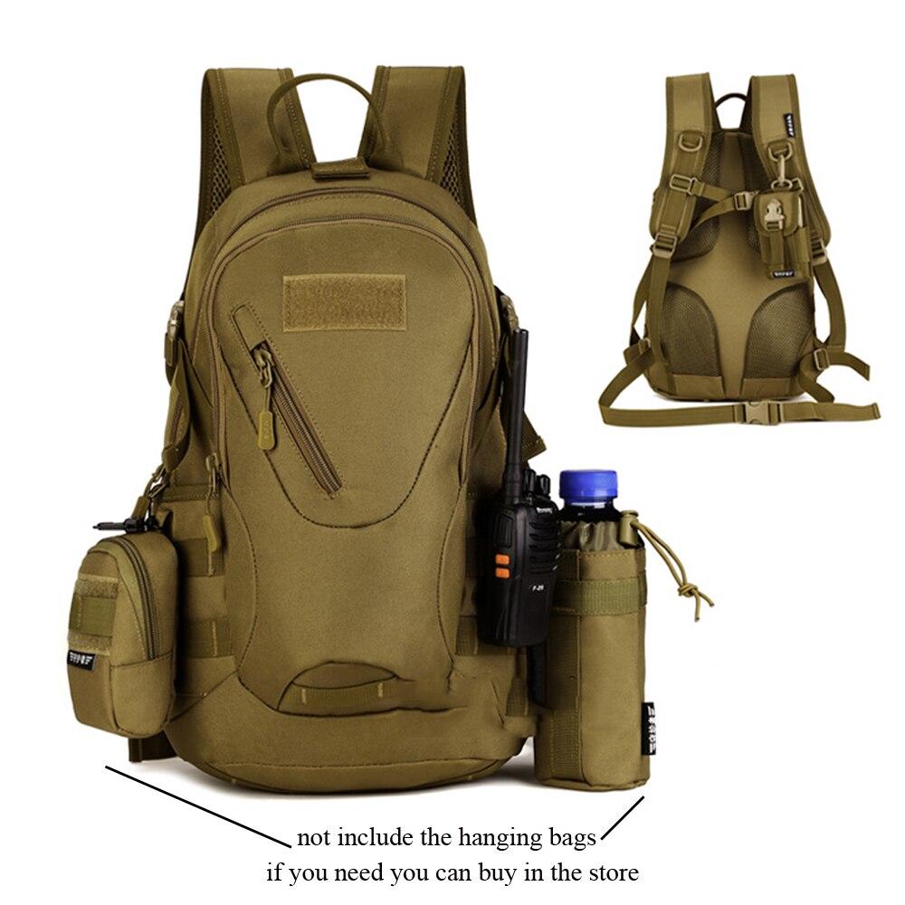 20L Military Travel Men Backpack Wear Resistant Nylon School 13 inch Laptop Bag Boys Handsome Tactics Rucksack<br>