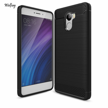 Cover For Xiaomi Redmi 4 Case Soft TPU Brushed Business Mobile Phone Funda Coque Case For Xiaomi Redmi 4 Redmi4 Cover [<