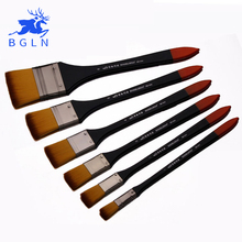 BGLN Nylon Flat Head Scrubbing Painting Brush Acrylic Painting Brush Oil Paint Wall Painting Brush Art Supplies