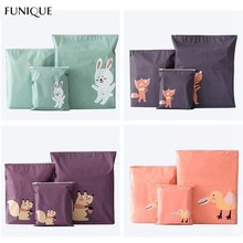 FUNIQUE 1PC Travel Pouch For Shoes Portable Storage Bag Waterproof Clothing Bags Self Sealing Underwear Shoes Sorting Bags(China)