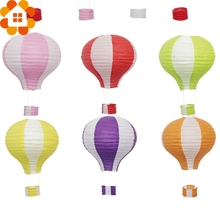 New!12inch 17Colors Rainbow Paper Lantern Hot Air Balloon Sky Lanterns Home/Wedding/Birthday/Christmas Party Decoration Supplies