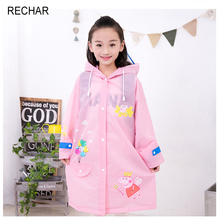 New Fashion unisex waterproof kids boys girls Cute Cartoon piggy Hooded children Raincoat Hot Sale Free shipping(China)