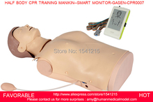 FIRST AID TRAINING MANIKIN, HALF BODY CPR ,MEDICAL MANNEQUIN AND HALF BODY CPR TRAINING MANIKIN--SMART MONITOR-GASEN-CPRM0007