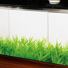 Baseboard Green Grass Ladybug Removable Art Vinyl Wall Stickers Decor Living Room Bedroom Mural Decal Home Decor 50*70CM WS0095