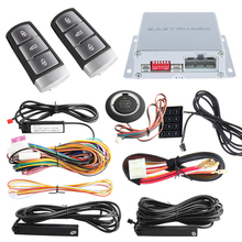 Easyguard PKE car alarm system remote engine start & push button start passive keyless entry touch password entry backup