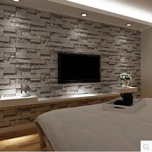 3 d  restoring ancient ways of Chinese style imitation brick grain brick wall paper bedroom living room TV setting store brick