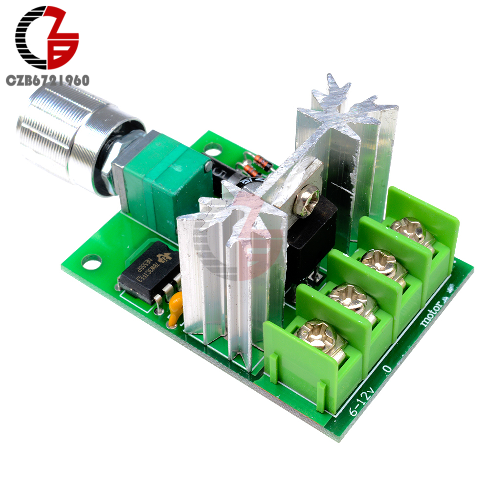 High Power 6A 6V-12V PWM No-Polarity DC Motor Speed Regulator Controller Board Speed Motor Control Switch Board 4