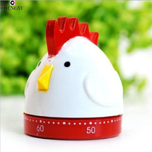 cooking tools alarm clock kitchen timer dial timers chicken creative fashion cute red 60minute Pretty