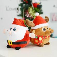 Christmas Plush toy kawaii doll kids christmas gift toys With Light Music Player for Children Christmas decor L50