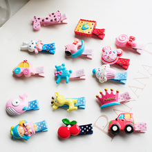 New Design Korean Cute Girls Hairpins Resin Acrylic Cartoon Animal Candy Hair Clips Child Barrette for Kids Hair Accessories