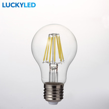 LUCKYLED Brand LED Bulbs E27 8W 220V 110V Retro Filament lamp Glass shell Vintage Edison Bulb Light Lamp Lampada for Home Decor(China)