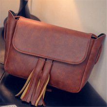 Hot Sale! Bag Fashion Fringed Shoulder Diagonal Magnetic Button Handbag Envelope bag Women's Handbag Simple Shoulder Bag Handbag