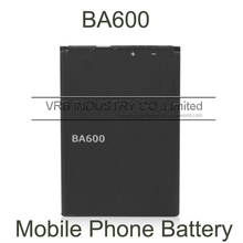 1290mAh BA600 cell mobile phone battery bateria for Sony Xperia U ST25 ST25i LT22 LT22i free singapore air mail with retail box