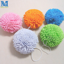 5Pcs/Lot Candy Color Natural Bath Ball Soft Comfortable Bath Sponge Easy Cleaning Bath Flower Mesh Bath