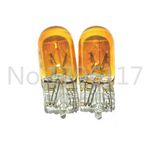 10pcs T10 Halogen W5W 194/501 Amber Orange 5W Halogen Bulb Signal Interior Car light Lamp car styling car light source, parking