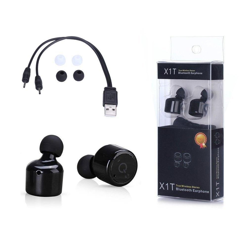 Twins X1T True Wireless Headphones Bluetooth V4.2 Hifi Stereo Wireless Earbuds with Mic for iPhone 7 6s 6 iPad Samsung Xiaomi<br><br>Aliexpress