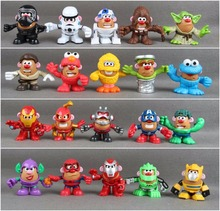 1pcs Friends Mr. Potato Head Super Heroes Star wars Cosplay loose Figures Toys(China)