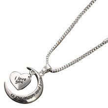 Susenstone 2017 Fahion Silver Arrow I Love You Heart Key Couple Key Chain Necklace pendant Keyfob Lover Gift Valentine's Day(China)