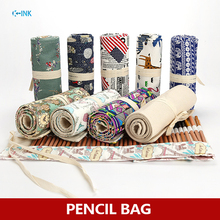 Pencil Bag , Various Color for Your Choice 36/48/72 Holes Pencil Bag , Roll Pencil Pouch as Office School Stationary