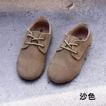 WENDYWU 2017 Boys shoes scrub leather leather soft wear-resistant skid comfortable Peas shoes Candy colors A variety of colors