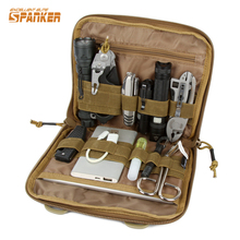 SPANKER Tactical Molle EDC Tool Pouch Nylon Utility Pouch Dump Drop Bag Flashlight Hunting Bags First Aid Kit Survival Gear Bag