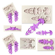 Cake Border European Relief Silicone Mold Sugarcraft Fondant Mold Cutting Dies Cake Decorating Tools Chocolate Gumpaste Mould