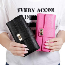 THINKTHENDO Women Fashion Leather PU Wallets Purse Card Long Wallet Holder Clutch