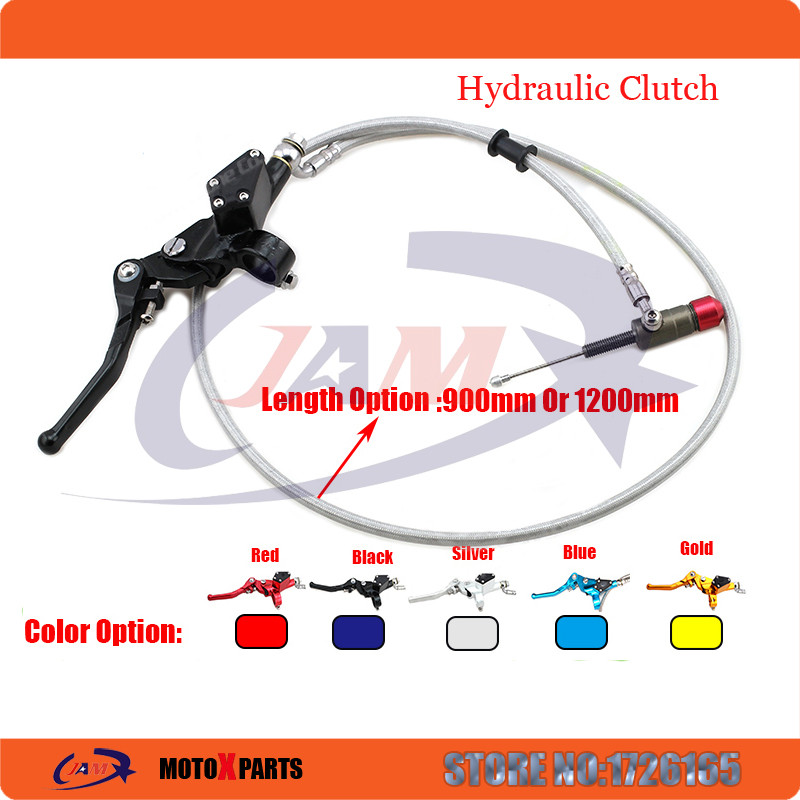 Hydraulic clutch 1200mm lever master cylinder for125-250cc Vertical Engine Off road Motorcycle Pit Dirt Bike Motocross<br>