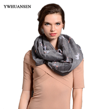 YWHUANSEN Big Size New Fashion Small Dog Scarves in Beige Grey Loop Scarf Dog in Tan Shawls Dog Infinity Scarf Animal Scarf(China)