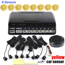 free shipping no Display monitor 8 Sensors Kit Reversing Radar System Parking Radar Buzzer System 4 front 4 rear Parking Sensors(China)