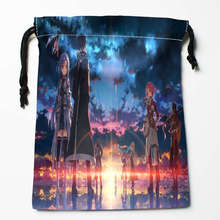 New Arrival Sword Art Online Drawstring Bags Custom Storage Printed Receive Bag Type Bags Storage Bags Size 18X22cm(China)