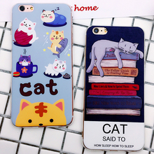Phone Case For iPhone 6 7Plus 3D Coque Capa Cartooe Design For Luckly Cat Soft TPU Phone Bag Cases Cover For iPhone 6S Plus