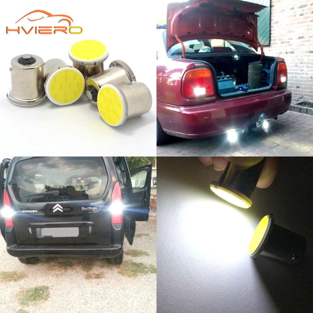 Hviero White cob p21w 12 smd 1156 BA15Y 1157 BA15S DC 12v bulbs RV Trailer Truck Light parking Auto led Car backup lamp