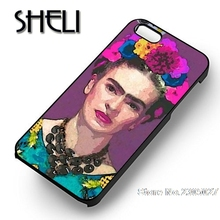 SHELI trendy frida kahlo case cover for iphone 5s 6 6s 6plus 7 7plus Samsung galaxy note5 s3 s4 s5 s6 edge s7 edge(China)