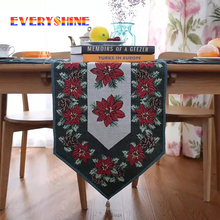 European Farmhouse style Flowers Pattern Cotton Table Runner Coffee Table Bar Restaurant Decorations Table Mat Cloth Craft JK315