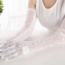WJ Spring summer lace arm warmer Sexy Women's Lace Gloves Mittens for party Accessories UV Sunscreen driving gloves WE885 P0.20