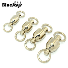 BlueJays 10pcs big pull 100kg-230kg Ball Bearing Swivel Solid Rings Sea Ocean Word Shape Stainless Steel Fishing Hook Connectors(China)