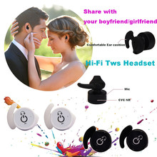 Mini Invisible TWS Twins Wireless Bluetooth Stereo Headset In-Ear Earphones with Microphone Hands-free Earbuds for iOS Android