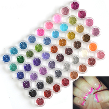 Tracy Simple Nail 60 Colors/Sets DIY Craft Sequins Gem Nail Art Glitter Powder Polish UV Gel Builder Decor Tips TRNJ151