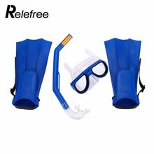 Professional Swimming Kit Diving Mask Breathing Tube Fins Water Sports PC Children Anti Fog Diving Mask Snorkel Glasses Goggles(China)